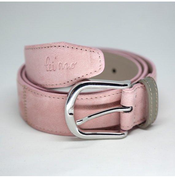 Damengürtel Wildleder LANI in Lady Pink/Acero von lei'ano | Designergürtel