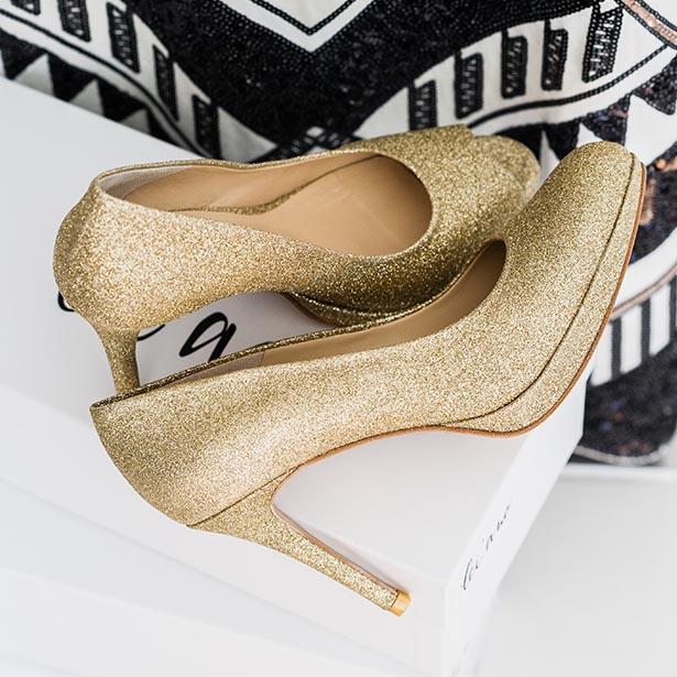 lei'ano damenschuhe glitzer pump high heel shoes